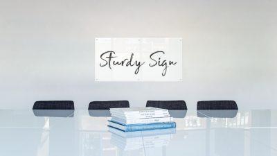 acrylic sign header