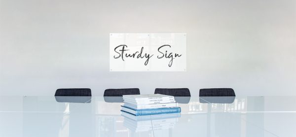 acrylic sign header
