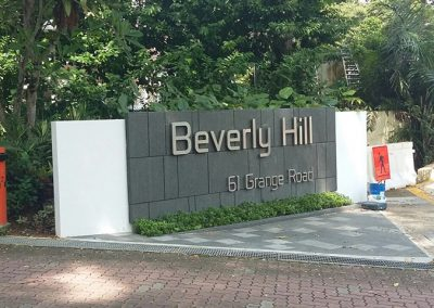 Boundary Wall Sign for Beverly Hill