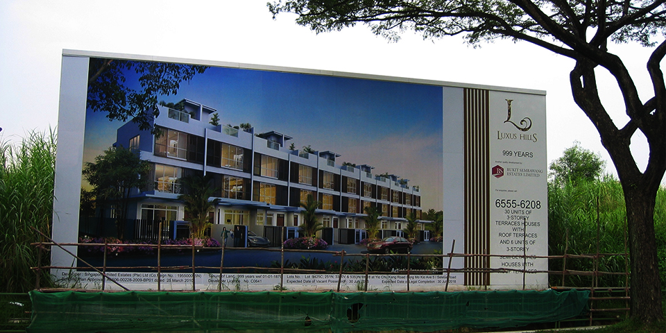 Luxus Hill Project Signboard