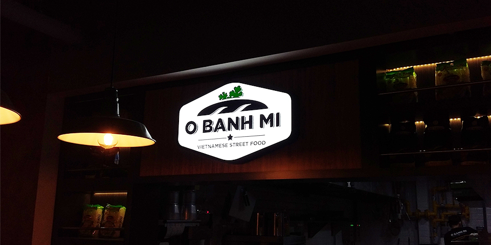 O Bahn Mi - Custom lightbox Sign
