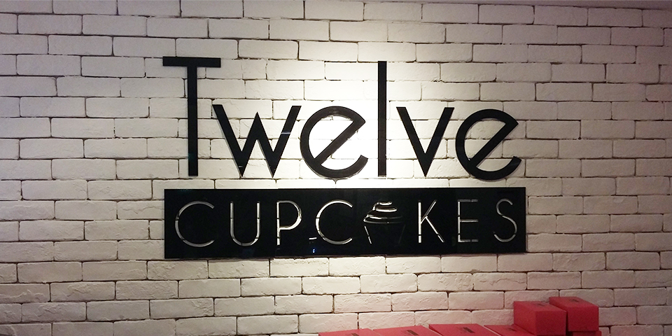 Twelve Cupcakes Retail Sign