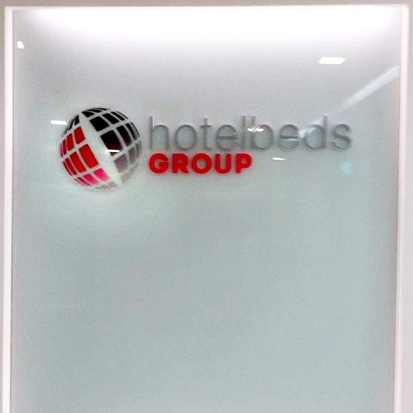 3D Acrylic Sign at office reception