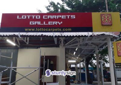 Lotto Carpets Roofing Signage