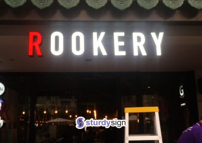 Rookery 3d lighted signage