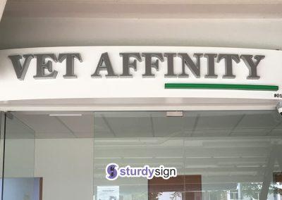 Vet Affinity 3d box-up signage lighted