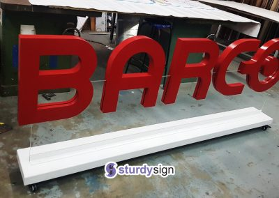 Barco Free standing 3D Signage Letters Supplier