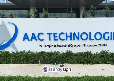 AAC Technologies Boundary Wall Signage