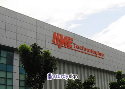 Large building facade 3D box-up Signage