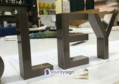 Wesley Sanctuary 3D PVD Stainless Steel Signage