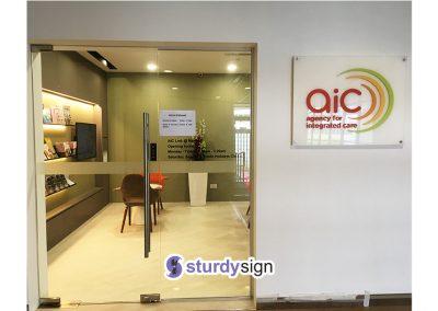 acrylic signage AIC