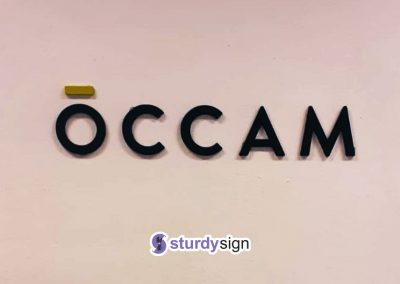 3d acrylic signage occam