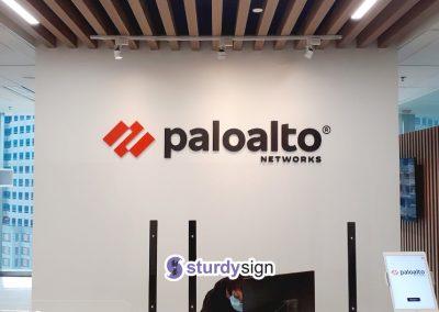 Palo Alto Reception 3d acrylic signage