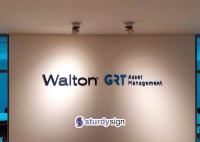 Walton 3d acrylic signage