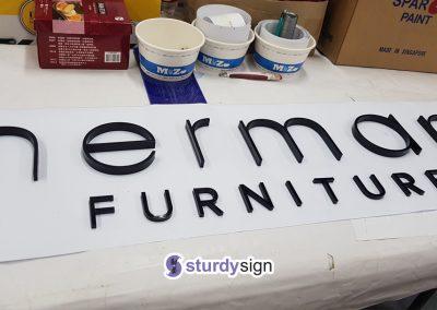 3D Acrylic Signage Herman Furniture