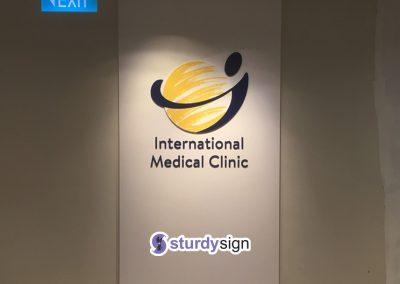 3D acrylic signage international medical clinic