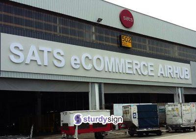 SATS eCommerce Building Signage