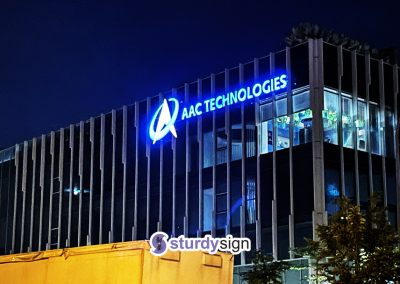building signage lighted