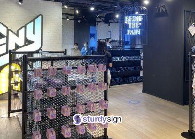 BTS Popup shop signage