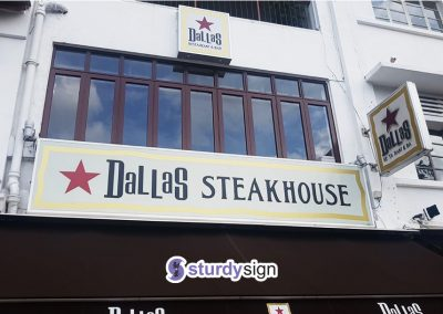 Dallas Steakhouse Signage