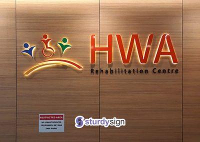 HWA 3d back-lighted signage