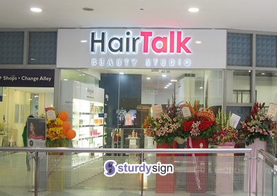 HairTalk 3d box-up front and back lighted signage