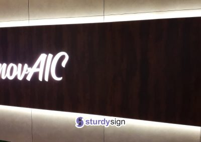 AIC Centre Main Entrance Signage