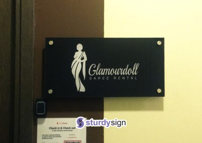 Acrylic Sign Reversed Printed