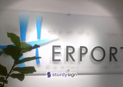 acrylic sign frosted