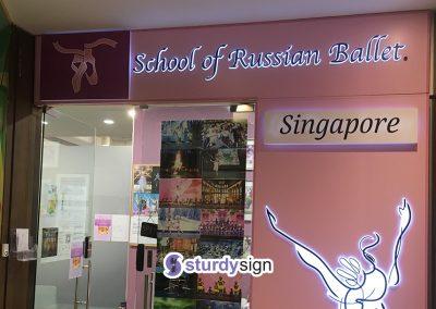 Ballet School Lightbox signage